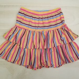 {10\12 girls} Hanna Andersson Multicolored Skirt